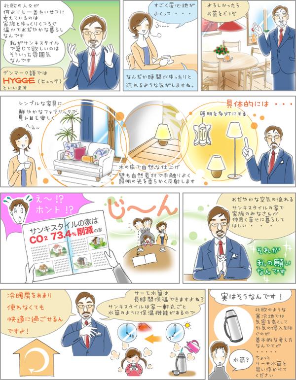 静岡県静岡市の工務店Sanki Haus(サンキハウス)・マンガ2